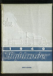 Page 1, 1940 Edition, Highland Park High School - Highlander Yearbook (Dallas, TX) online yearbook collection