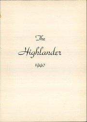 Page 5, 1940 Edition, Highland Park High School - Highlander Yearbook (Dallas, TX) online yearbook collection