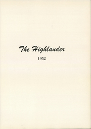 Page 5, 1952 Edition, Highland Park High School - Highlander Yearbook (Dallas, TX) online yearbook collection