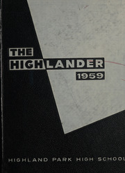 Page 1, 1959 Edition, Highland Park High School - Highlander Yearbook (Dallas, TX) online yearbook collection
