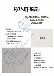 Page 5, 1963 Edition, Hillcrest High School - Panther Yearbook (Dallas, TX) online yearbook collection