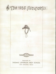 Page 7, 1935 Edition, Jefferson High School - Monticello Yearbook (San Antonio, TX) online yearbook collection