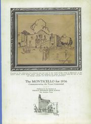 Page 7, 1936 Edition, Jefferson High School - Monticello Yearbook (San Antonio, TX) online yearbook collection