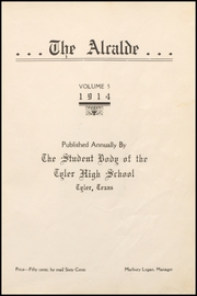 Page 7, 1914 Edition, John Tyler High School - Alcalde Yearbook (Tyler, TX) online yearbook collection