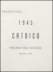 Page 5, 1945 Edition, Midland High School - Catoico Yearbook (Midland, TX) online yearbook collection