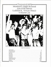 Page 7, 1979 Edition, Monterey High School - Chaparral Yearbook (Lubbock, TX) online yearbook collection