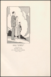 Page 12, 1932 Edition, Paris High School - Owl Yearbook (Paris, TX) online yearbook collection