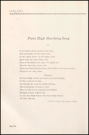 Page 14, 1932 Edition, Paris High School - Owl Yearbook (Paris, TX) online yearbook collection