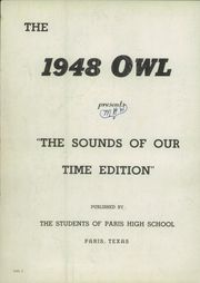 Page 6, 1948 Edition, Paris High School - Owl Yearbook (Paris, TX) online yearbook collection