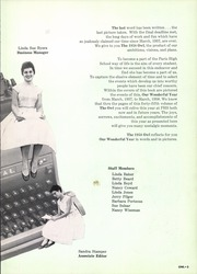 Page 7, 1958 Edition, Paris High School - Owl Yearbook (Paris, TX) online yearbook collection