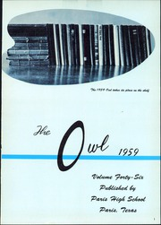 Page 5, 1959 Edition, Paris High School - Owl Yearbook (Paris, TX) online yearbook collection