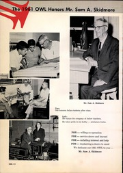 Page 6, 1961 Edition, Paris High School - Owl Yearbook (Paris, TX) online yearbook collection