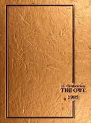 Page 1, 1985 Edition, Paris High School - Owl Yearbook (Paris, TX) online yearbook collection