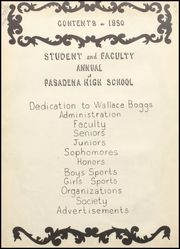 Page 6, 1950 Edition, Pasadena High School - Pasadenian Yearbook (Pasadena, TX) online yearbook collection