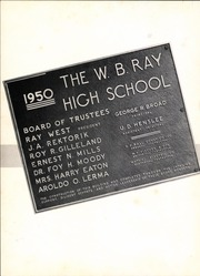 Page 8, 1952 Edition, W B Ray High School - Silver Spur Yearbook (Corpus Christi, TX) online yearbook collection