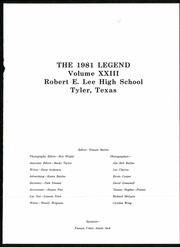 Page 5, 1981 Edition, Robert E Lee High School - Legend Yearbook (Tyler, TX) online yearbook collection