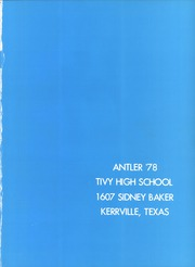Page 5, 1978 Edition, Tivy High School - Antler Yearbook (Kerrville, TX) online yearbook collection