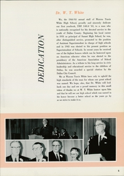 Page 9, 1965 Edition, W T White High School - Saga Yearbook (Dallas, TX) online yearbook collection