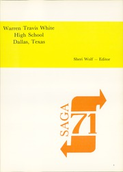 Page 5, 1971 Edition, W T White High School - Saga Yearbook (Dallas, TX) online yearbook collection