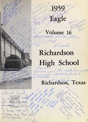 Page 7, 1959 Edition, Richardson High School - Eagle Yearbook (Richardson, TX) online yearbook collection