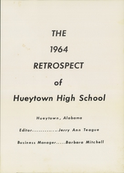 Page 5, 1964 Edition, Hueytown High School - Retrospect Yearbook (Hueytown, AL) online yearbook collection