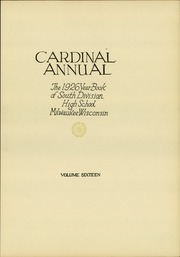 Page 9, 1926 Edition, South Division High School - Cardinal Yearbook (Milwaukee, WI) online yearbook collection