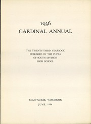 Page 9, 1936 Edition, South Division High School - Cardinal Yearbook (Milwaukee, WI) online yearbook collection