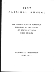 Page 7, 1937 Edition, South Division High School - Cardinal Yearbook (Milwaukee, WI) online yearbook collection