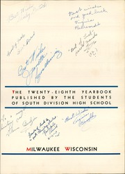 Page 9, 1941 Edition, South Division High School - Cardinal Yearbook (Milwaukee, WI) online yearbook collection