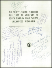 Page 6, 1951 Edition, South Division High School - Cardinal Yearbook (Milwaukee, WI) online yearbook collection