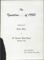Page 5, 1950 Edition, St Ignatius High School - Ignatian Yearbook (Cleveland, OH) online yearbook collection