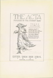 Page 9, 1927 Edition, Exeter Union High School - Acta Yearbook (Exeter, CA) online yearbook collection
