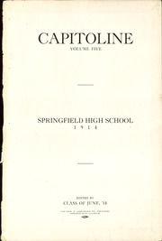Page 3, 1914 Edition, Springfield High School - Capitoline Yearbook (Springfield, IL) online yearbook collection