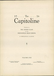Page 7, 1926 Edition, Springfield High School - Capitoline Yearbook (Springfield, IL) online yearbook collection