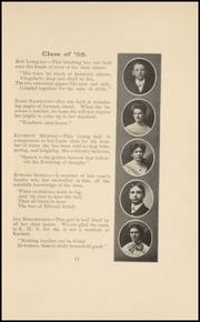 Page 15, 1905 Edition, Keokuk High School - Comment Yearbook (Keokuk, IA) online yearbook collection