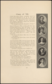 Page 16, 1905 Edition, Keokuk High School - Comment Yearbook (Keokuk, IA) online yearbook collection
