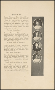 Page 17, 1906 Edition, Keokuk High School - Comment Yearbook (Keokuk, IA) online yearbook collection