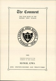 Page 6, 1923 Edition, Keokuk High School - Comment Yearbook (Keokuk, IA) online yearbook collection