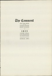Page 7, 1925 Edition, Keokuk High School - Comment Yearbook (Keokuk, IA) online yearbook collection