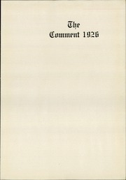 Page 5, 1926 Edition, Keokuk High School - Comment Yearbook (Keokuk, IA) online yearbook collection