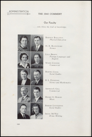Page 14, 1940 Edition, Keokuk High School - Comment Yearbook (Keokuk, IA) online yearbook collection