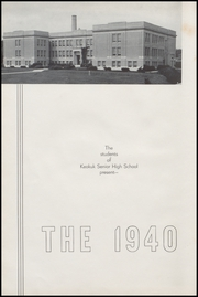 Page 6, 1940 Edition, Keokuk High School - Comment Yearbook (Keokuk, IA) online yearbook collection