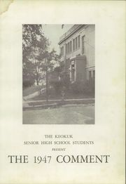 Page 7, 1947 Edition, Keokuk High School - Comment Yearbook (Keokuk, IA) online yearbook collection