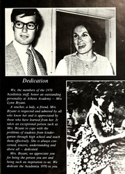 Page 7, 1970 Edition, Athens Academy - Academia Yearbook (Athens, GA) online yearbook collection