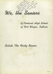 Page 5, 1949 Edition, Elmhurst High School - Anlibrum Yearbook (Fort Wayne, IN) online yearbook collection