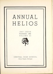 Page 7, 1947 Edition, Central High School - Helios Yearbook (Grand Rapids, MI) online yearbook collection