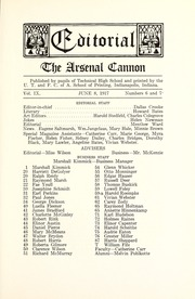 Page 17, 1917 Edition, Arsenal Technical High School - Arsenal Cannon Yearbook (Indianapolis, IN) online yearbook collection