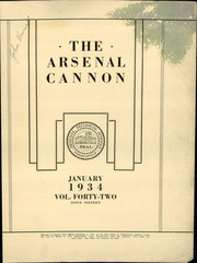 Page 3, 1934 Edition, Arsenal Technical High School - Arsenal Cannon Yearbook (Indianapolis, IN) online yearbook collection