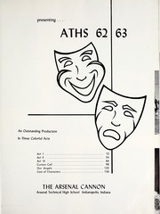 Page 5, 1963 Edition, Arsenal Technical High School - Arsenal Cannon Yearbook (Indianapolis, IN) online yearbook collection