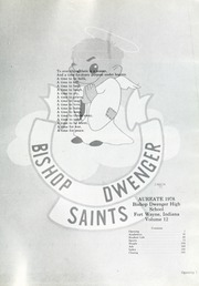 Page 5, 1978 Edition, Bishop Dwenger High School - Aureate Yearbook (Fort Wayne, IN) online yearbook collection